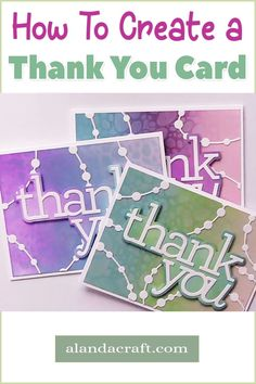 We show you how to make this lovely thank you card in our free tutorial. It's easy to do and looks great. Crafts To Sell, Easy Crafts, Diy Paper, Paper Crafts, Tim Holtz Distress Ink, Diy Ideas, Craft Ideas, Elizabeth Craft Designs, Distress Oxide Ink