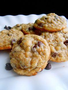 Dark Chocolate Chip Coconut Oatmeal Cookies