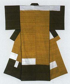 紬織着物「舟江」 Motifs Textiles, Textile Patterns, Traditional Japanese Kimono, Japanese Geisha, Kabuki Costume, Modern Kimono, Kimono Design, Asian Design, Japanese Textiles