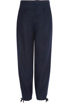 Chloé Stretch wool-blend tapered pants | NET-A-PORTER