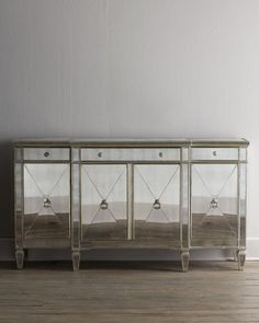 H1BAV Amelie Mirrored Buffet/Console / love the look but in nightstands