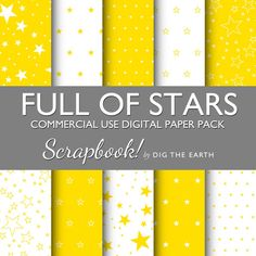 INSTANT DOWNLOAD Full Of Stars Wallpaper by digtheearthscrapbook, £1.50