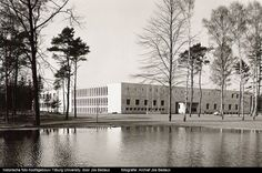 Main building of the Tilburg University by Dutch architect Jos Bedaux.