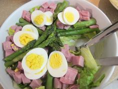 Springtime Ham and Asparagus Salad for Only 2 WeightWatchers Smart Points per serving