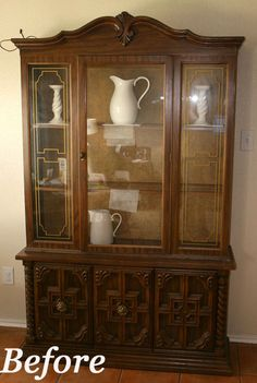 Antique Rosewood Chinese Chippendale style China Cabinet | Old ...