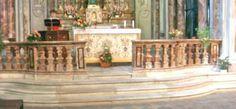 The Alabastro di Busca balustrade of the Santissima Trinità church in Busca, Italy. #marble #italy Piedmont Region, Turin, Small Towns