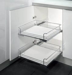 Wire Drawer,  Pull-Out Drawer - Internal with hinge clearance - Wire Basket -  450mm Module -Basket 377(W)x488(D)x125mm(H)- Elraco Distributors
