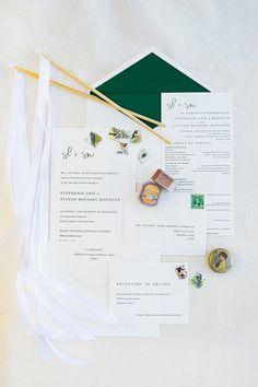 Wedding Stationery from an Elegant Floral Urban Wedding on Karas Party Ideas | KarasPartyIdeas.com (7)