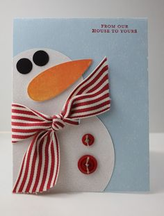 Snowman Card...with a carrot nose...TeigerLily Designs.