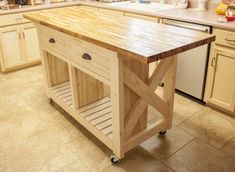Do it yourself kitchen island rustic x kitchen island done double kitchen island with butcher block top wheels furniture classic cherry best free home design idea inspiration solutioingenieria Images