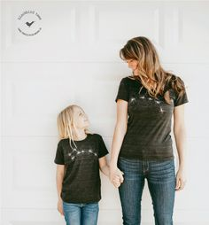Inspired by constellations and the night sky, our newest t-shirt gift set is aiming high this Mother's Day. With a Big Dipper for mom and a Little Dipper for the kiddo, this matching pair is a sweet, subtle way to show your love. Consider the stars aligned.  Find this and other perfect Mother's Day gifts in our Etsy shop.
