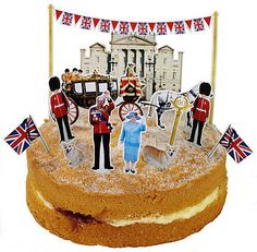 diamond jubilee cake toppers - god save the queen!