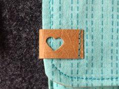 Süßes Herzlabel - einfach mit einem Papierstanzer aus SnapPap ausstanzen…