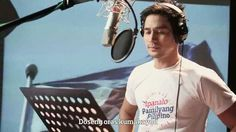 """This is the handsome Piolo Pascual singing his part during the recording of the ABS-CBN 2016 Summer Station ID and Halalan 2016 Station ID, """"Ipanalo ang Pamilyang Pilipino!"""" with Ebe Dancel, Sarah Geronimo, Elmo Magalona, and the singers from ASAP. Indeed, Piolo is another of my favourite Kapamilyas and Star Magic talents. #PioloPascual #Halalan2016 #IpanaloangPamilyangPilipino Born Again Christian, Abs, Star Magic, Geronimo, Elmo, Singers, Summer, Handsome, Teen"""