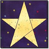FIVE POINT STAR QUILT.Five Pointed Star I find it interesting that none of the lines on the stars in the full quilt match the lines of the actual block they show you how to make. Flag Quilt, Patriotic Quilts, Star Quilt Blocks, Star Quilt Patterns, Paper Piecing Patterns, Star Quilts, Pattern Blocks, 3d Quilts, Block Quilt
