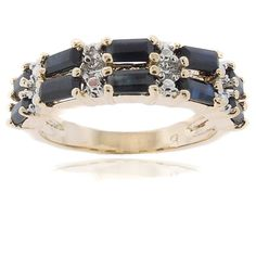 <li>Black sapphire and diamond accent ring</li></li><li><a href='http://www.overstock.com/downloads/pdf/2010_RingSizing.pdf'><span class='links'>Click here for ring sizing guide</span></a></li>