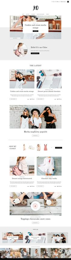 XO is a new Wordpress Theme of the MP Studio WordPress Collection! Your readers will love the smooth interaction and the clean look of this fully Layout Design, Website Design Layout, Website Design Inspiration, Affiliate Marketing, Fashion Website Design, Minimalist Wordpress Themes, Web Design Trends, Design Web, Graphic Design