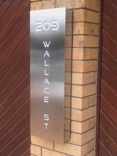 Picture Gallery for stainless steel house signs and letterboxes