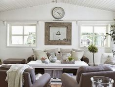 Dream House in Norway #house @Michael Atkins House Love #living_room #clock www.bighouselove.com