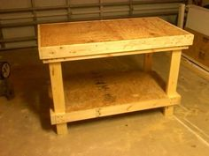 DIY $20 VERY STURDY Work bench. Too bad I have a bench and each of the kids do too. Still, a handy plan to have!