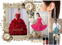 """""""Wine Red A-Line / Princess Sweetheart Beading and Ruffles Quinceanea Dress Floor-length Organza"""" by quinceaneradress ❤ liked on Polyvore"""
