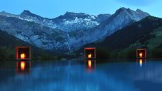The Cambrian Adelboden: The spa's exterior thermal pool has massage jets and incredible views.