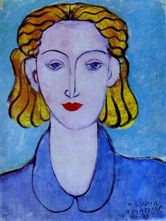 Matisse: Young Woman in a Blue Blouse (portrait of Lydia Delectorskaya, the artist's secretary), 1939. The Hermitage, St. Petersburg.