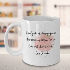 Chanel Decor, Interesting Quotes, Mug Designs, Art Market, Coco Chanel, Gift For Lover, Be Yourself Quotes, Inspiring Quotes, Champs