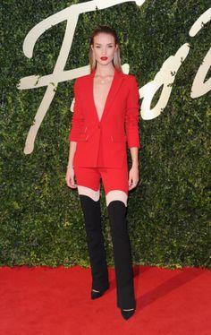 Rosie Huntington-Whiteley  at the 2013 British Fashion Awards.