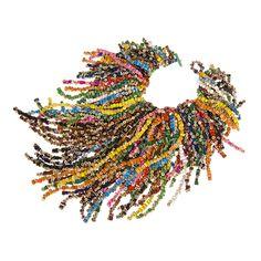 Necklace | Margherita Marchioni.  Coloured pencils.