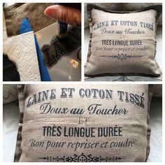 ✨Ooh la la! Chalk Paint® even adheres to fabric! ✨ #custom #pillow #francais #anniesloan #chalkpaint #home #decor #design #interior #diy #linen #fabric #creativity #fun #workshop #morethanpaint #paintpassionnj #classicwallfinishes #redbank #nj #newjersey #monmouthcounty