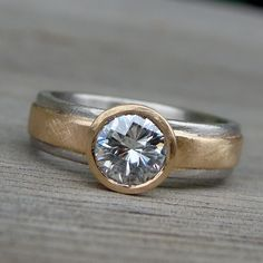 Forever Brilliant Moissanite Recycled 14k by McFarlandDesigns, $1,698.00