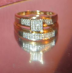 57% OFF GIA Certified 14K Yellow Gold 0.25 Ct Natural Diamond Ring Size 7 Resizable Women's Wedding Set Engagement Ring Layaway