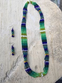 A personal favorite from my Etsy shop https://www.etsy.com/listing/256320578/karinas-beaded-necklace-37-round-with