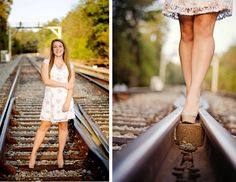 Train Tracks Senior Portrait