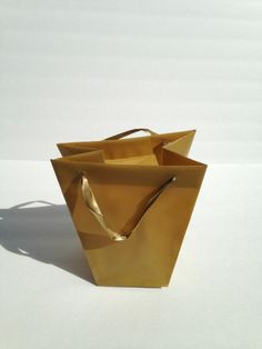 10 Gold Candy Gift Plastic Heavy Duty Party Favor Bags