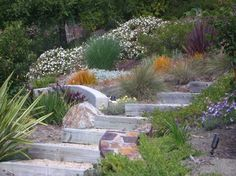 Hillside Stairs Design Ideas, Pictures, Remodel and Decor