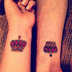 42 Meilleures Images Du Tableau Tatouage Roi Et Reine Pair Tattoos
