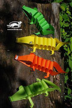 Alligator de papier de bricolage