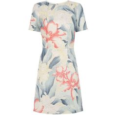 Oasis Kimono Orchid Shift Dress (75 AUD) ❤ liked on Polyvore