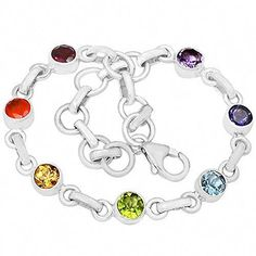 Get up to a Discount Healing Chakra 925 Sterling Silver Bracelet Jewelry - and Find More Discount Jewelry On Sale Now. Chakra Jewelry, Chakra Bracelet, Sterling Silver Bracelets, Beaded Bracelets, Link Bracelets, Silver Bangles, Silver Necklaces, Healing Bracelets, Silver Spoons