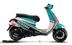 Petronas Racing - Pescao 55 Vespa Motorcycle, New Vespa, Vespa Lx, Tracker Motorcycle, Piaggio Vespa, Lambretta Scooter, Scooter Motorcycle, Cafe Racer Motorcycle, Motorcycle Design