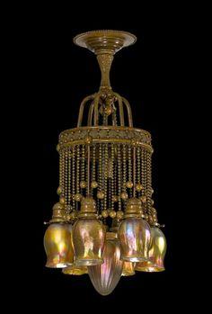 Tiffany -- Moorish Inspired, Art Nouveau Chandelier -- Late 19th Century. 2769eb8f0896