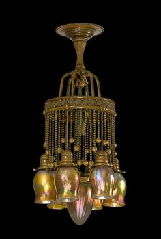 #Tiffany -- Moorish Inspired, Art Nouveau Chandelier