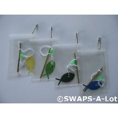 SWAPS-A-Lot - Mini Fishing Pole~Cane Pole SWAPS Kit for Girl Kids Scout 25