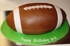 Rugby Ball Cake cakepins.com