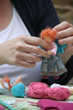 Reserved listing for Isobel: 2 Bendy dollhouse doll Waldorf style fairies
