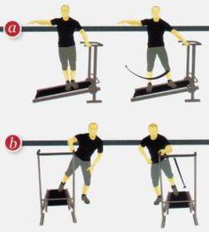 esercizi ginnastica a casa tapis roulant meccanico allenamento