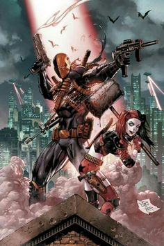 DC Comics Deathstroke and Harley Quinn posted on www.comicvine.com