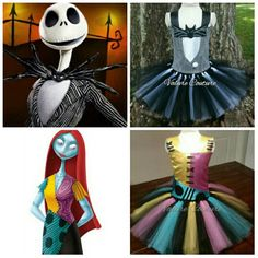The Nightmare Before Christmas Inspired Jack Skellington & Sally Tutu Dress Infant Toddler Youth by ValureCouture on Etsy https://www.etsy.com/listing/279397038/the-nightmare-before-christmas-inspired